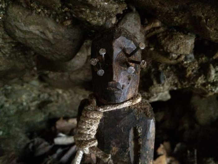 Spooky Statue Found In The Woods Appears To Be Cursed
