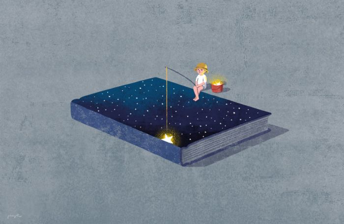 Surreal Illustrations Of Books By Korean Artist Jungho Lee