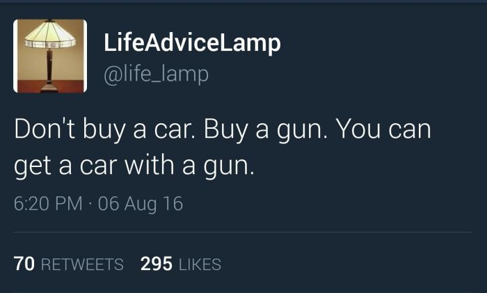 Excellent Life Advice From Life Advice Lamp