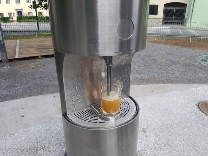 Europe's First Beer Fountain Opens In Slovenia