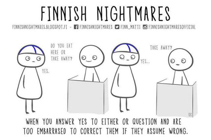 A Collection Of Finnish Nightmare Illustrations That Even Non-Finns Can Understand