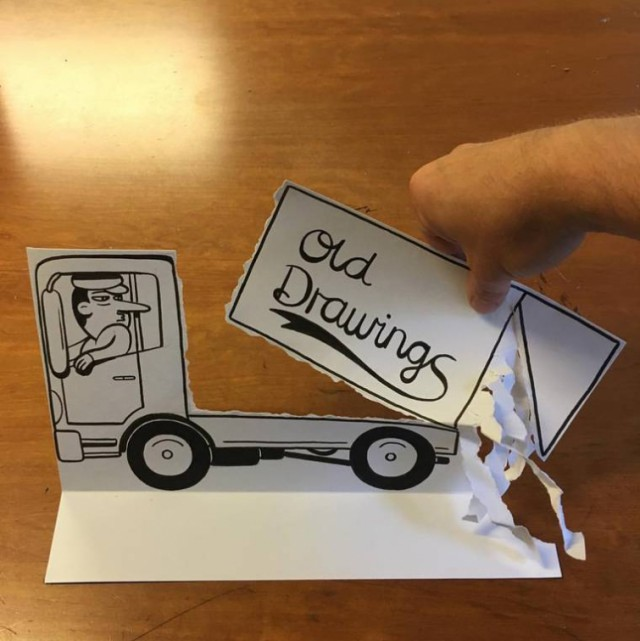 Simple Sheets Of Paper Get Transformed Into Amusing 3D Scenes