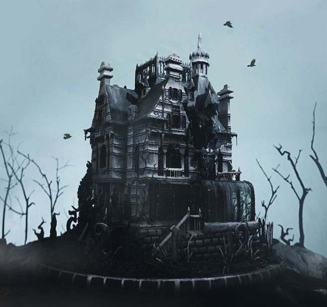 Artist Creates Edible Replica Of A House From Tim Burton's Newest Movie