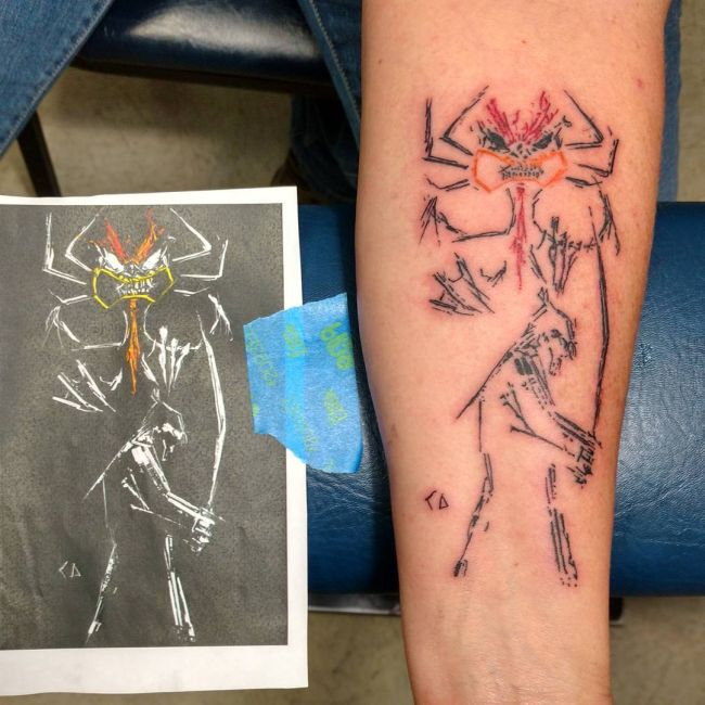 Awesome Tattoos Of Cool Cartoon Characters