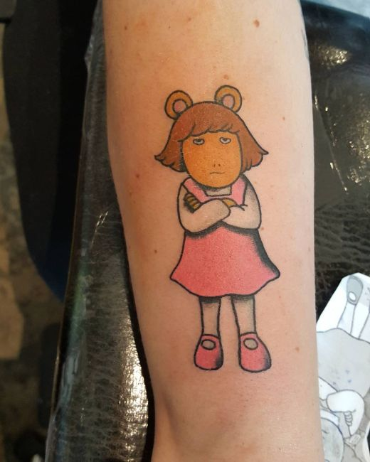awesome tattoos of cool cartoon characters others