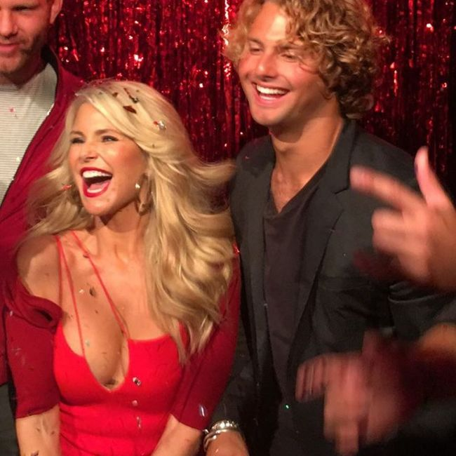 Christie Brinkley Stuns In A Red Dress At New York Fashion Week