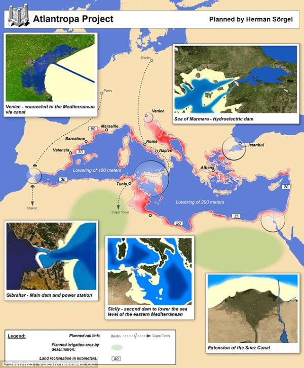 Back In The 1920's A Scientist Came Up With A Plan To Drain The Mediterranean Sea