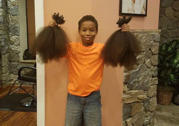 Boy Donates His Hair To Make Wigs For Kids With Cancer After 2 Years Of Growing