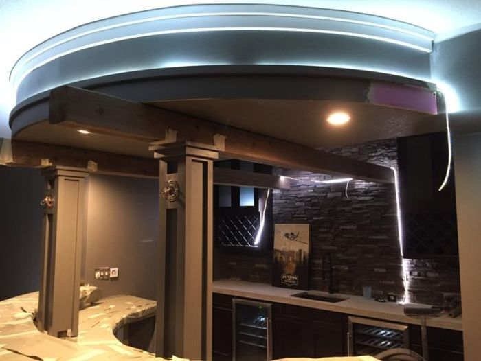 Guy Turns His Empty Basement Into An Awesome At Home Bar