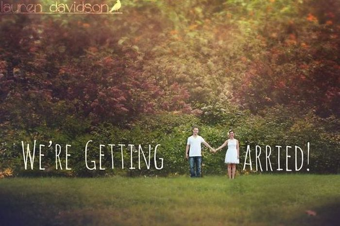 Clever Engagement Photos Are The Best Way To Announce A Wedding