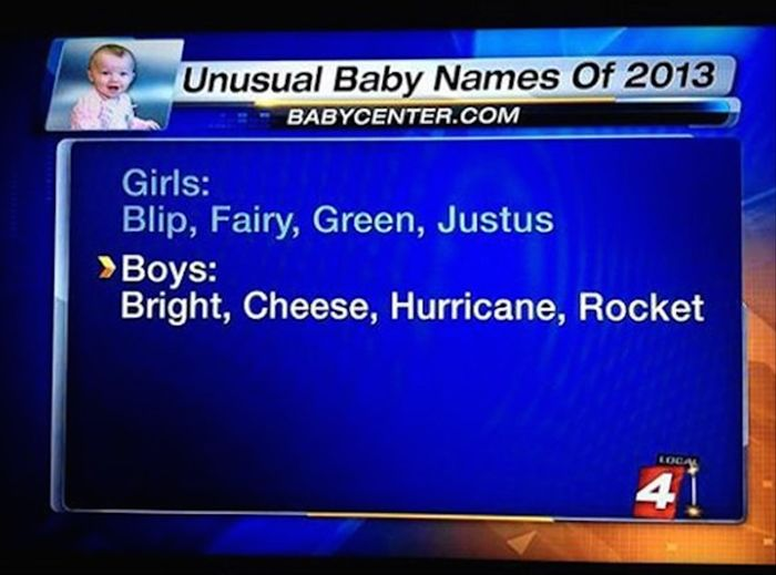 Dumb Baby Names That Were Created By Dumb Parents