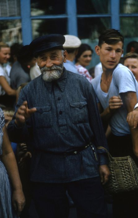 A Collection Of People On The Streets Of The Soviet Union