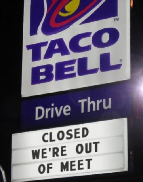 The Funniest Fast Food Signs In The History Of Fast Food Signs