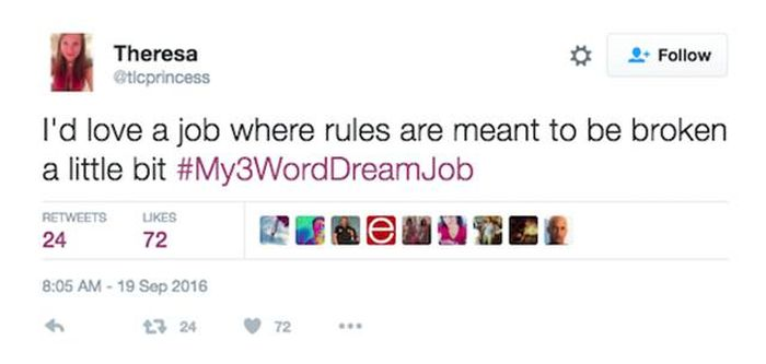 Twitter Users Share Their Dream Jobs Using Only Three Words