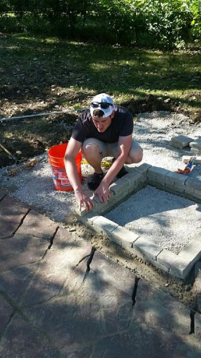 Guy Makes Major Backyard Renovations In Just One Weekend
