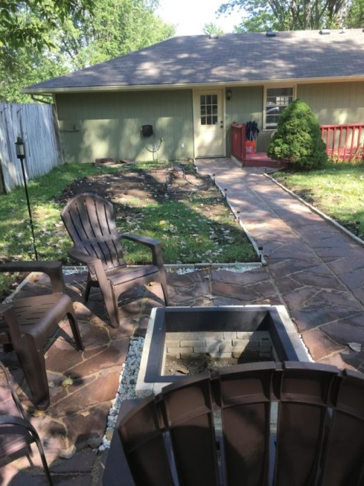 Guy Makes Major Backyard Renovations In Just One Weekend