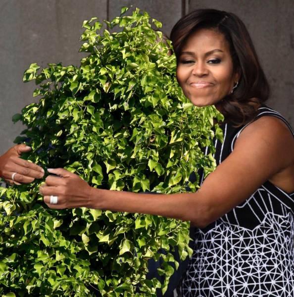 A Photoshop Battle Ensued Shortly After Michelle Obama Hugged George W. Bush
