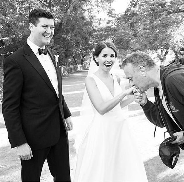 Tom Hanks Surprises Couple By Crashing Their Wedding Photos