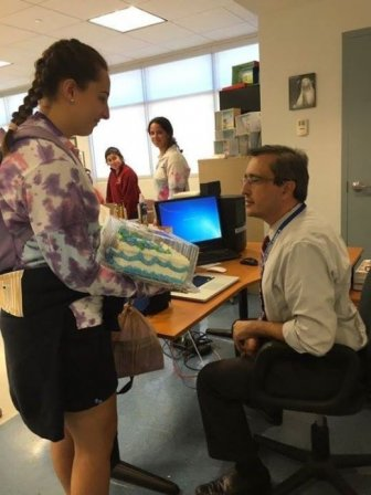 Teacher Cracks Up When He Sees Student's Surprise Gift
