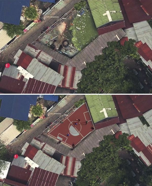 World's First Non-Rectangular Football Field Constructed In Thailand