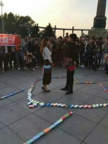 Chinese Man Declares His Love With 999 Boxes Of Condoms