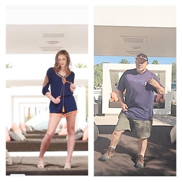 Dad Trolls His Daughter By Copying Her Modeling Photos