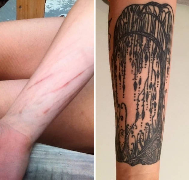 Amazing Tattoos That Covered Up Scars With Interesting Stories