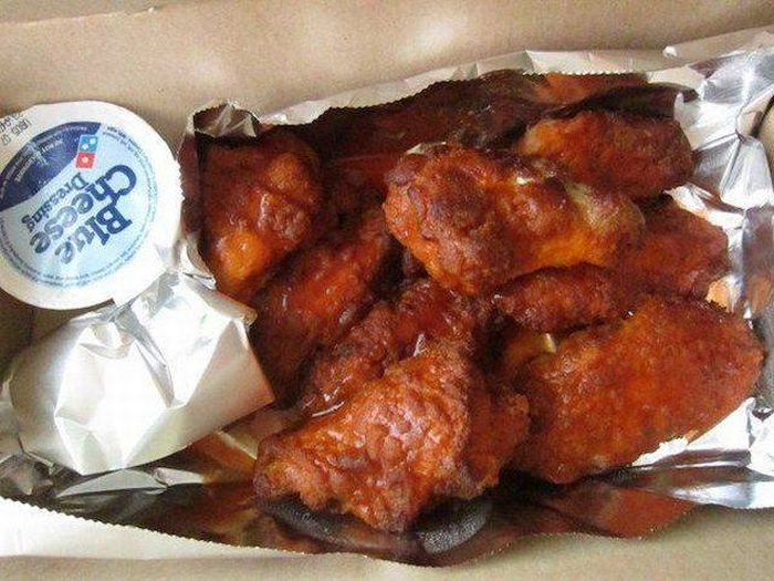 Girl Gets Something Completely Different After Ordering Domino's Wings