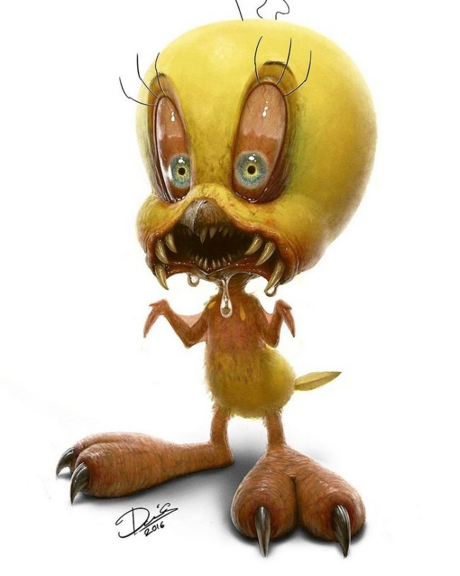 11 Classic Childhood Cartoon Characters Turned Into Monsters