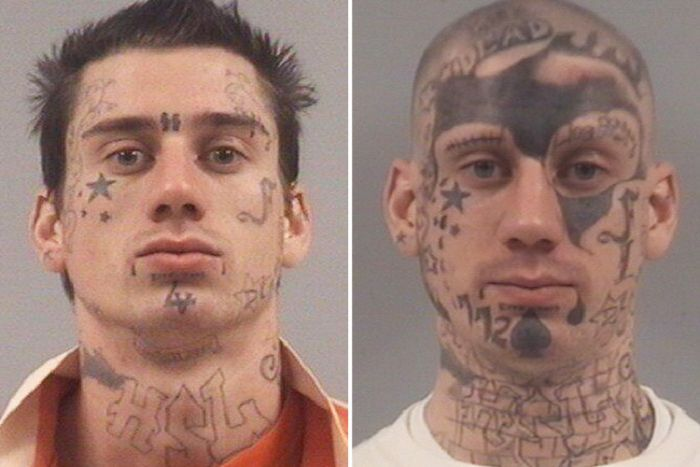 Serial Offender Progressively Covers His Face With Tattoos Over 7 Years