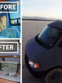 Man Turns His Grandmother's Old Van Into The Ultimate Adventure Mobile