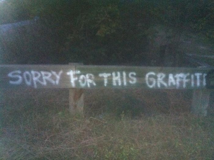 Silly Grafitti Art That You Will Only See In Canada