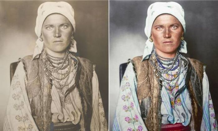 Immigrants At Ellis Island In Black And White And Color