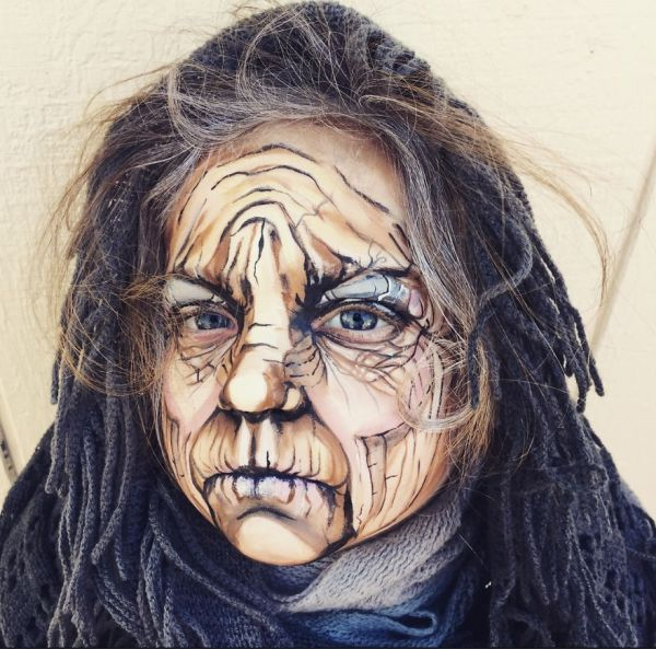Artist Uses Makeup To Turn A 3 Year Old Into An Old Lady