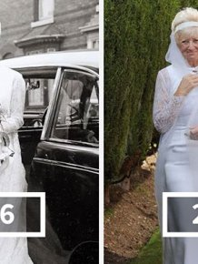 Couple Celebrates Their 50th Anniversary By Wearing Their Wedding Clothes