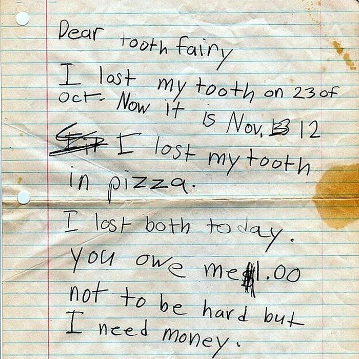 The 21 Best Notes Kids Have Ever Written To The Tooth Fairy
