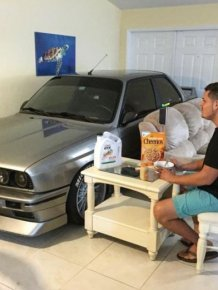Auto Mechanic Shares A Nice Dinner With His BMW