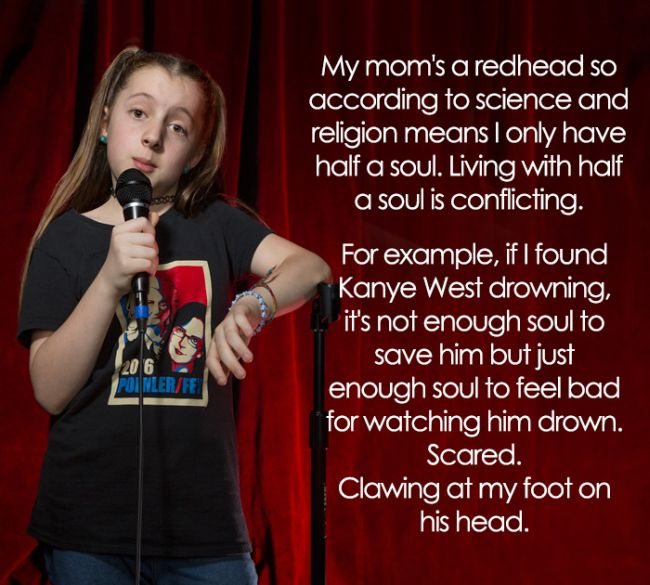 This 11-Year-Old Comedian Has Some Hilariously Inappropriate Jokes