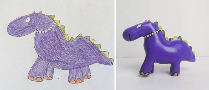 Kids' Drawings Turned Into Figurines Using A 3D Printer