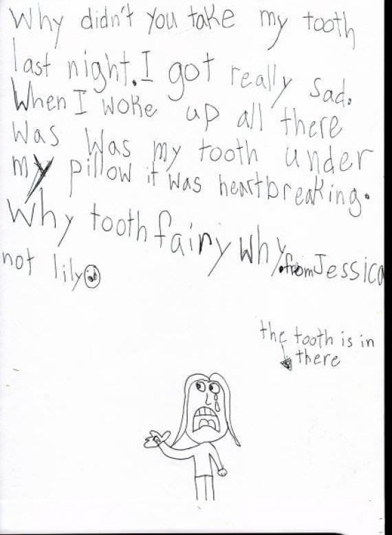 The Tooth Fairy Gets The Funniest Notes From Kids