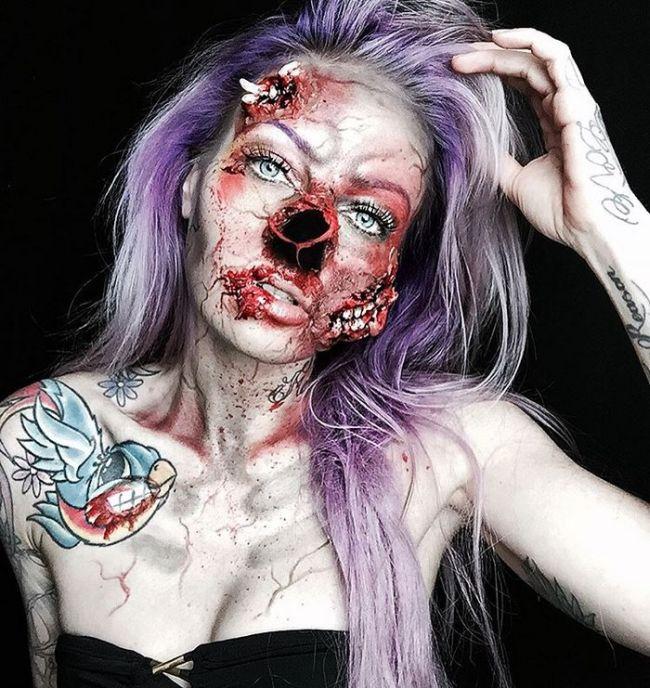 Sarah Mudle's Creepy Makeup Art Will Give You Nightmares