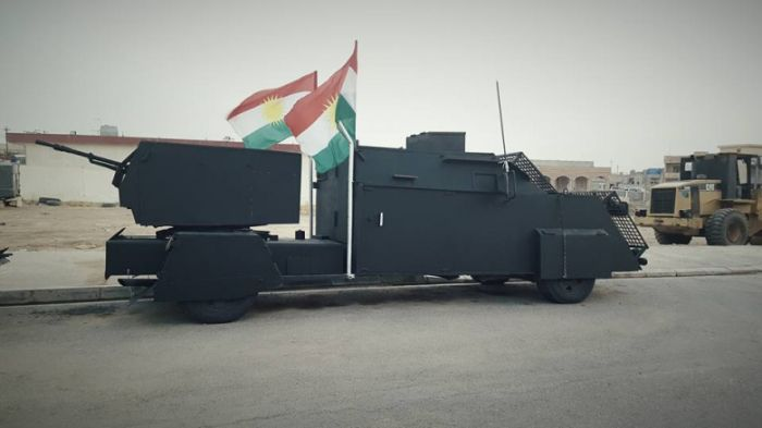 Armored Cars Of The Kurdish Peshmerga Militia