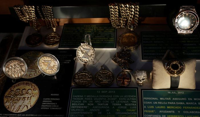 Golden Weapons That Once Belonged To Mexican Drug Lords