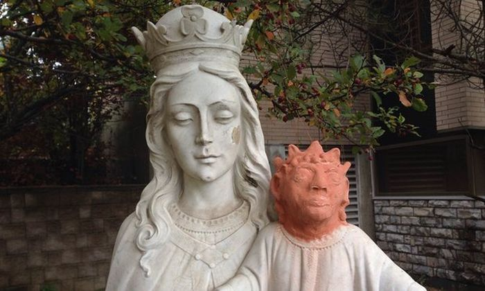 Baby Jesus Statue Gets Shocking Restoration In Canada