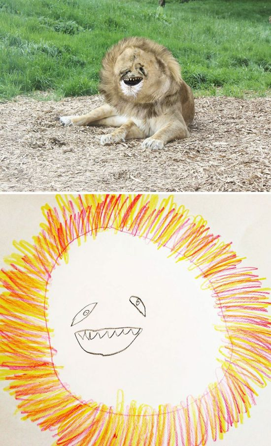 Dad Turns His 6-Year-Old Son's Drawings Into An Adorable But Creepy Reality