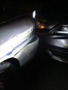 Student Crashes Into Police Car While Taking Topless Snapchat Pic