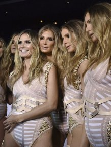 Heidi Klum Cloned Herself For Halloween