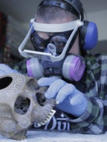 Meet The Man That Turns Human Skulls Into Art