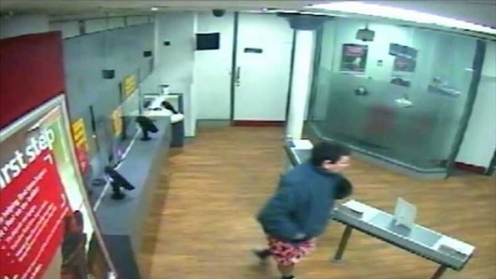 Pantsless Man Tries To Rob A Bank