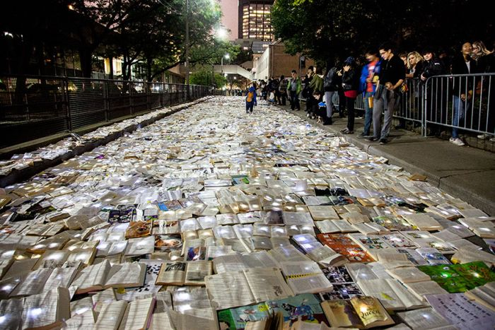 The Streets Of Toronto Have Been Flooded With Books
